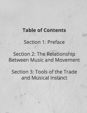 The Overture Table of Contents