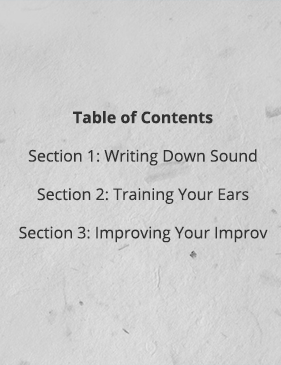 Improvisation Table of Contents
